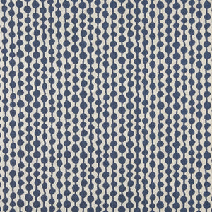 Essentials Heavy Duty Upholstery Geometric Fabric / Blue White