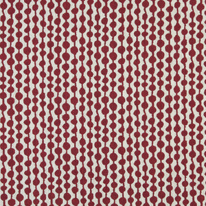 Essentials Heavy Duty Upholstery Geometric Fabric / Burgundy White