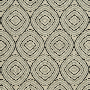 Essentials Heavy Duty Geometric Circles Upholstery Drapery Fabric / Gray Beige