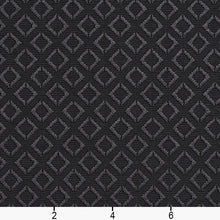 Load image into Gallery viewer, Essentials Upholstery Drapery Geometric Diamond Fabric / Black