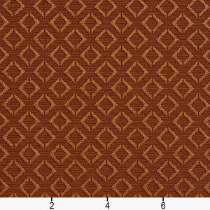Essentials Upholstery Drapery Geometric Diamond Fabric / Brown