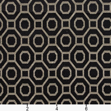 Load image into Gallery viewer, Essentials Heavy Duty Upholstery Drapery Geometric Trellis Fabric Black / Ebony