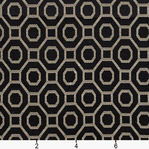 Essentials Heavy Duty Upholstery Drapery Geometric Trellis Fabric Black / Ebony