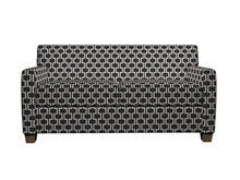 Load image into Gallery viewer, Essentials Heavy Duty Upholstery Geometric Trellis Fabric / Black White