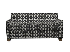 Essentials Heavy Duty Upholstery Geometric Trellis Fabric / Black White