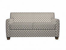 Load image into Gallery viewer, Essentials Heavy Duty Upholstery Geometric Trellis Fabric / Dark Brown White