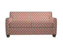 Load image into Gallery viewer, Essentials Heavy Duty Upholstery Geometric Trellis Fabric / Coral White