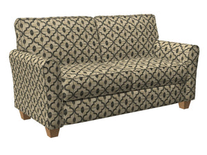 Essentials Heavy Duty Geometric Trellis Upholstery Drapery Fabric / Gray Beige