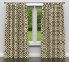 Load image into Gallery viewer, Essentials Heavy Duty Geometric Trellis Upholstery Drapery Fabric / Gray Beige