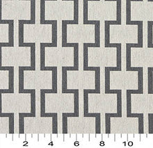 Load image into Gallery viewer, Essentials Heavy Duty Upholstery Geometric Trellis Fabric / Gray White