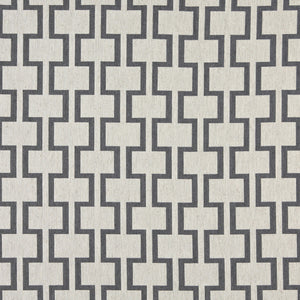 Essentials Heavy Duty Upholstery Geometric Trellis Fabric / Gray White