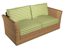Load image into Gallery viewer, Essentials Outdoor Upholstery Drapery Geometric Trellis Fabric / Lime Beige