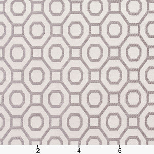 Essentials Heavy Duty Upholstery Drapery Geometric Trellis Fabric White / Moonstone