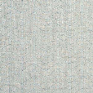 Essentials Heavy Duty Upholstery Drapery Geometric Zig Zag Chevron Fabric / Aqua