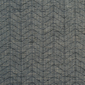Essentials Heavy Duty Upholstery Drapery Geometric Zig Zag Chevron Fabric / Dark Gray