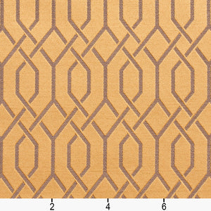 Essentials Heavy Duty Upholstery Drapery Fabric / Gold Lattice