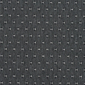 Essentials Gray Black White Upholstery Fabric / Sterling Dot
