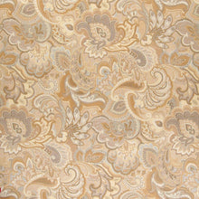 Load image into Gallery viewer, Essentials Cityscapes Gray Mustard Beige Cream Floral Paisley Upholstery Drapery Fabric