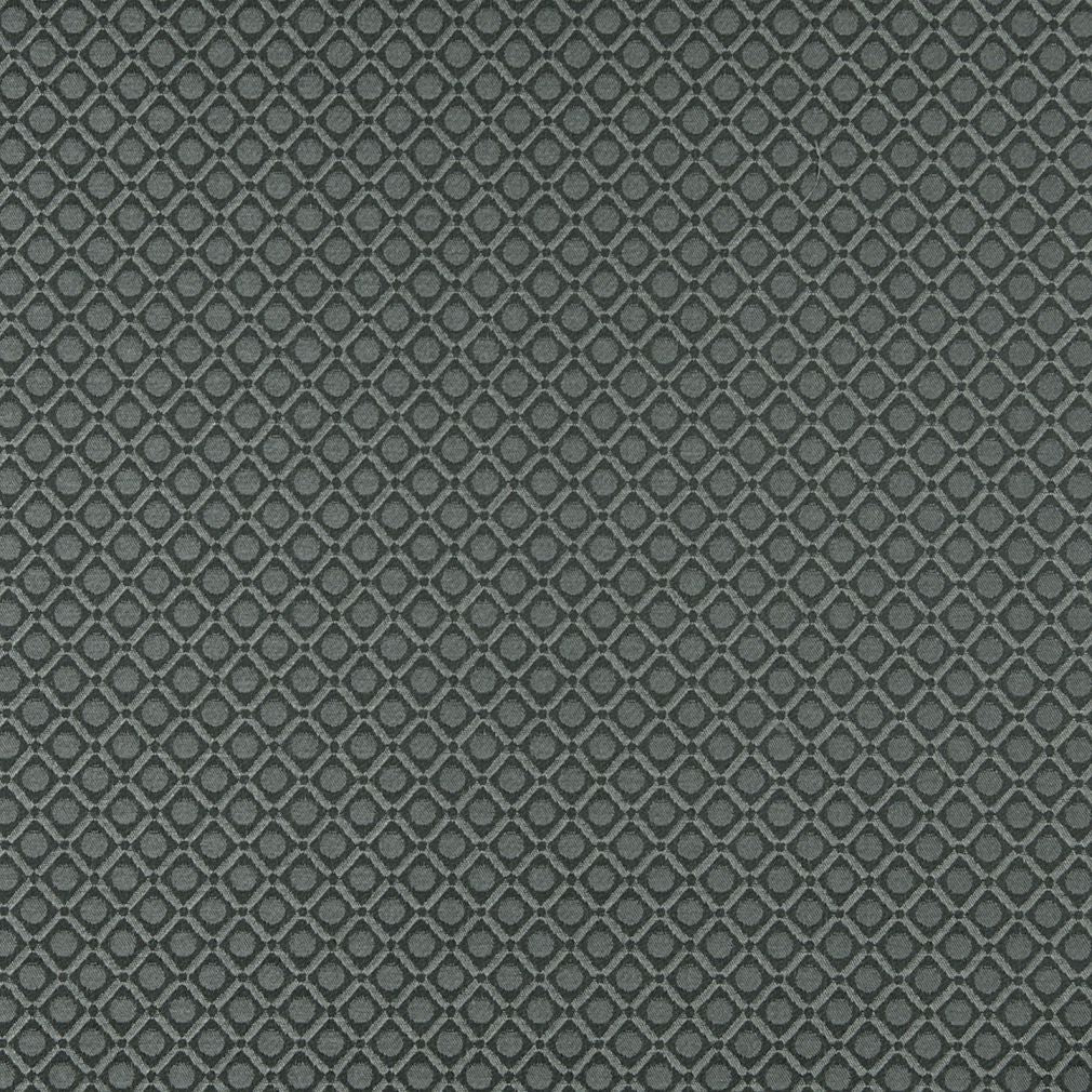Essentials Gray Silver Geometric Diamond Сircle Upholstery Fabric / Sterling