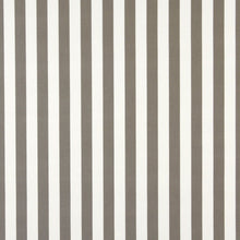 Load image into Gallery viewer, Essentials Outdoor Gray Taupe White Canopy Stripe Upholstery Fabric