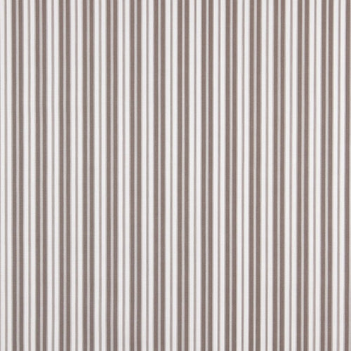 Essentials Outdoor Gray Taupe Classic Stripe Upholstery Fabric