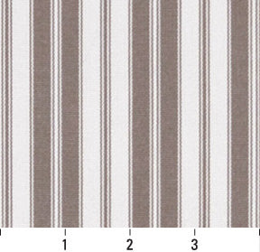 Essentials Outdoor Gray Taupe White Classic Stripe Upholstery Fabric