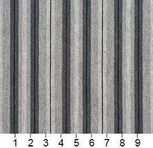 Load image into Gallery viewer, Essentials Gray White Black Upholstery Fabric / Sterling Stripe