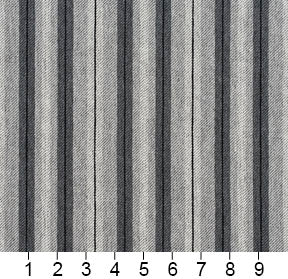 Essentials Gray White Black Upholstery Fabric / Sterling Stripe