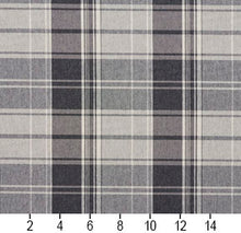 Load image into Gallery viewer, Essentials Gray White Checkered Upholstery Fabric / Sterling Plaid