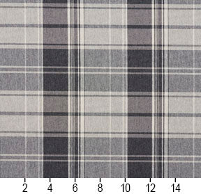 Essentials Gray White Checkered Upholstery Fabric / Sterling Plaid