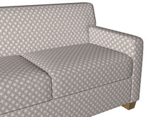 Load image into Gallery viewer, Essentials Chenille Gray White Geometric Diamond Upholstery Fabric
