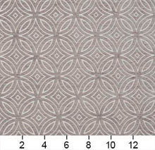 Load image into Gallery viewer, Essentials Chenille Gray White Geometric Medallion Upholstery Fabric