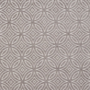 Essentials Chenille Gray White Geometric Medallion Upholstery Fabric
