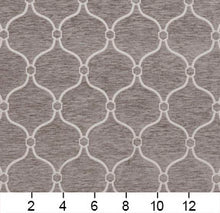 Load image into Gallery viewer, Essentials Chenille Gray White Geometric Trellis Upholstery Fabric