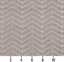 Load image into Gallery viewer, Essentials Chenille Gray White Geometric Zig Zag Chevron Upholstery Fabric