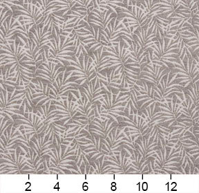 Essentials Chenille Gray White Leaf Branches Upholstery Fabric
