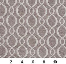 Load image into Gallery viewer, Essentials Chenille Gray White Oval Trellis Upholstery Fabric