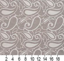 Load image into Gallery viewer, Essentials Chenille Gray White Paisley Upholstery Fabric
