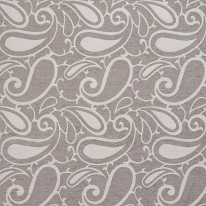 Essentials Chenille Gray White Paisley Upholstery Fabric