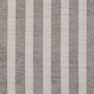 Essentials Chenille Gray White Stripe Upholstery Fabric