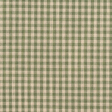 Load image into Gallery viewer, Essentials Green Beige Checkered Upholstery Drapery Fabric / Juniper Gingham