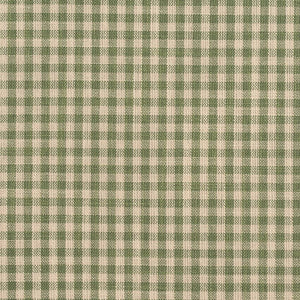 Essentials Green Beige Checkered Upholstery Drapery Fabric / Juniper Gingham