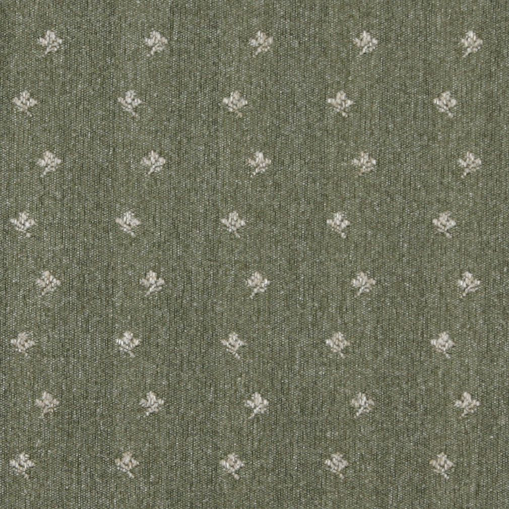 Essentials Green Beige Upholstery Fabric / Sage Posey