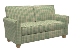 Essentials Green Brown Cream Checkered Plaid Upholstery Drapery Fabric / Juniper Tartan