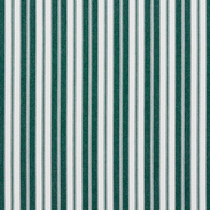 Essentials Outdoor Green White Forest Classic Stripe Upholstery Fabric
