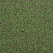 Load image into Gallery viewer, Essentials Heavy Duty Mid Century Modern Scotchgard Upholstery Fabric Green Gold Paisley / Fern