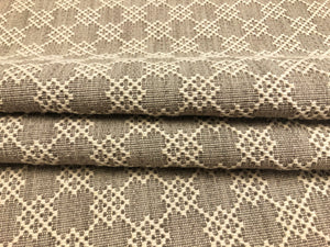 Schumacher Albert Fret Stone Small Scale Woven Geometric Upholstery Fabric