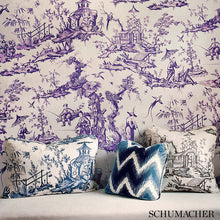 Load image into Gallery viewer, SCHUMACHER SHENGYOU TOILE FABRIC / CHARCOAL