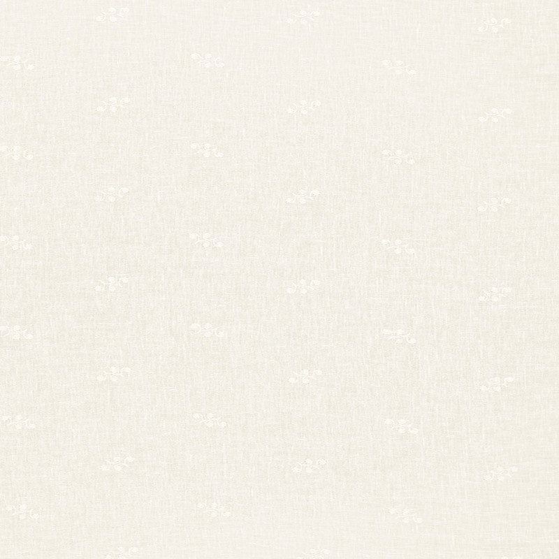 SCHUMACHER VALE EMBROIDERED SHEER FABRIC 12230 / IVORY