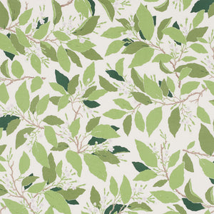 SCHUMACHER DOGWOOD LEAF FABRIC / IVORY